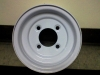 "10"" x 6"" Gloss White Rim 4H x 4"" Bolt Pattern"